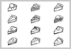 Ensemble d'illustration de tarte aux pommes gratuit vecteur