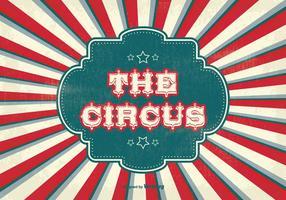 Illustration de fond de cirque de style vintage vecteur