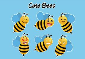 Cute Bee Vectors