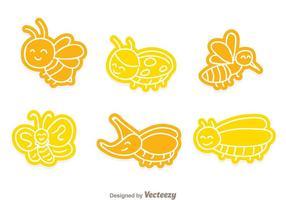 Icônes d'insectes vectoriels vecteur
