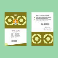 carte d'identité verticale géométrique rétro vert citron