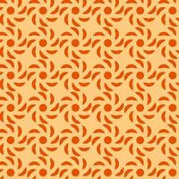 motif géométrique orange et rouge