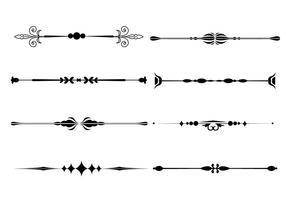 Vecteurs d'ornement de ligne de fantaisie vecteur