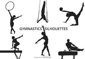 Silhouettes de gymnastique vectorielle gratuites vecteur