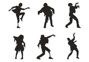 Danse zombie vecteur
