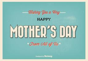 Illustration typographique de la fête des mères