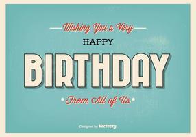 Illustration typographique de salutation d'anniversaire