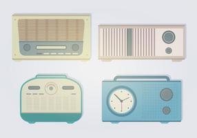 Rétro Vecteurs Radio vecteur