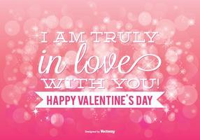 Belle illustration rose de la Saint-Valentin de Bokeh vecteur