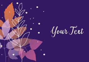 Fond violet de la nature