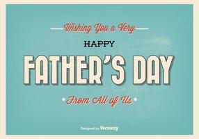 Illustration typographique du jour du père