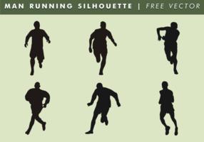 Homme, course, silhouette, vecteur gratuit