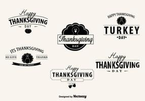 Badges du jour de Thanksgiving