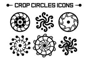 Vecteurs de cercles de culture vecteur