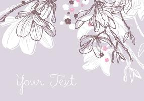 Magnolia Background Design vecteur
