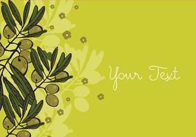 Conception de fond d'olive vecteur
