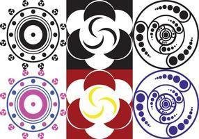 Vecteurs de cercle de culture fabriqués par des extraterrestres vecteur