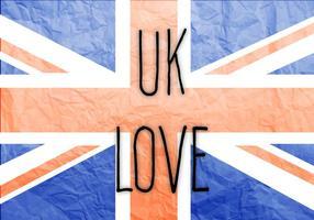 Vecteur libre d'amour du Royaume-Uni