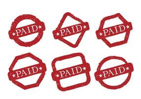 Vecteurs de timbres payés grungy