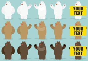 Personnages vectoriels d'ours