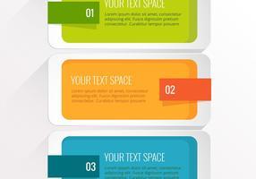 Vecteur de conception infographique coloré