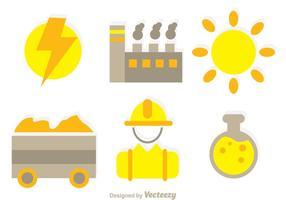 Icônes d'éléments d'usine vecteur