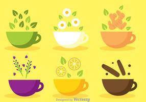 Coupe de vecteurs de thé vecteur
