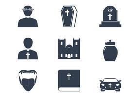 Icônes du vecteur de l'église