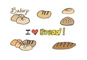 Série gratuite de tableaux de pain à pain vecteur