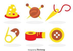 Couture des icônes vectorielles vecteur