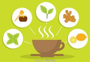 Vecteur de thé à base de plantes