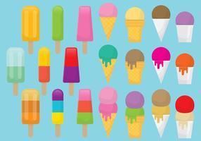 Vecteurs de dessert surgelés
