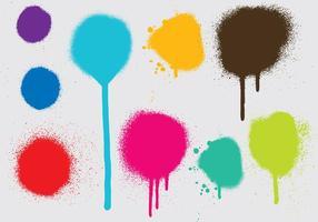Vecteurs de goutte à peinture par pulvérisation vecteur