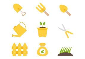 Vecteurs d'outils de plantation