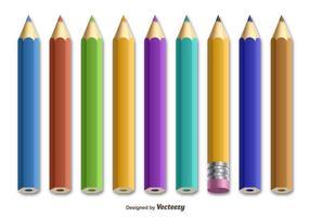 Crayons colorés vecteur
