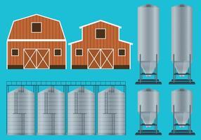 Vecteurs de conteneurs agricoles vecteur