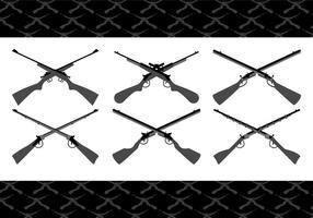 Vecteurs à fusils croisés vecteur
