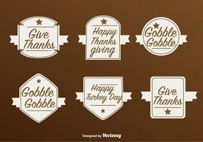 Étiquettes vectorielles de Thanksgiving Happy