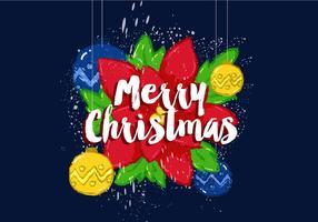 Affiche gratuite de vecteur de Joyeux Noël