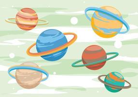 Vecteurs de la planète saturnale vecteur