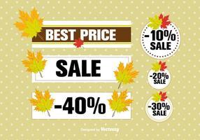 Étiquettes de vente d'automne vecteur