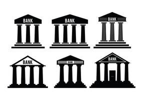 Vecteurs d'icônes bancaires vecteur
