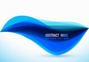 Design de vague bleu vectoriel propre