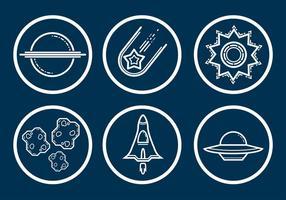Ensemble de vecteur d'icône d'espace
