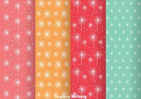 Vecteurs de motifs colorés colorés abstraits vecteur