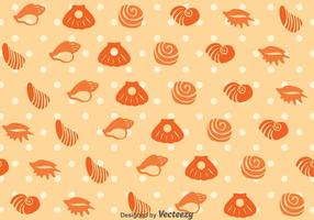 Vector de motif de coquillage de mer