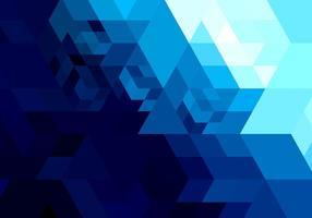 Forme géométrique abstraite en bleu brillant vecteur