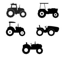 jeu d'icônes de tracteur vecteur
