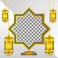 lanterne d'or et forme abstraite