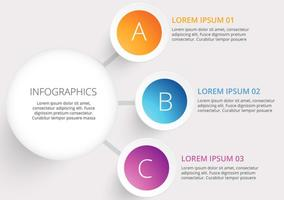 Infographie infographique du cercle vectoriel moderne